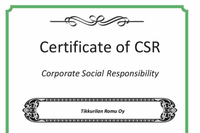 TiksPac CSR-todistus